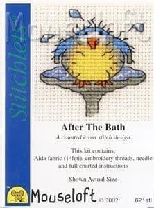 Mouseloft After the Bath Stitchlets cross stitch kit